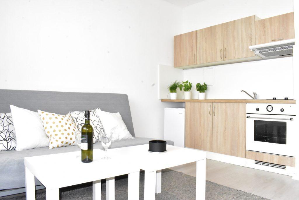 3D и ВИДЕО: Реконструированная квартира-студия с большим балконом и красивым видом в городской части Petržalka, Bratislava