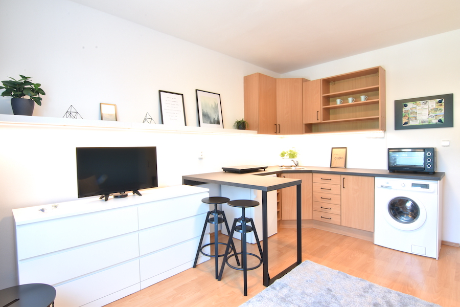 3D and VIDEO: Reconstructed studio apartment with a cellar on Dlhá Street, Chrenová city district, Nitra